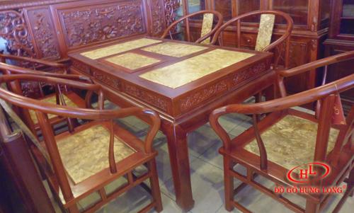 Bộ bàn ăn đời Minh Hương vách Nu