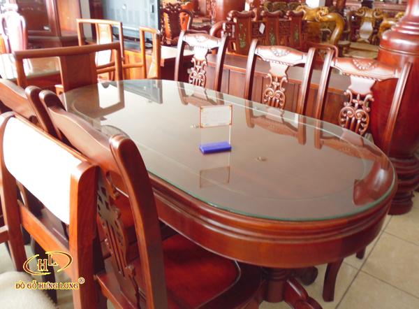 Bộ bàn ăn bầu dục 6 ghế