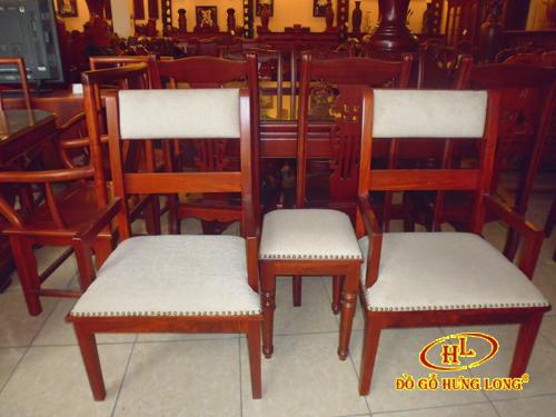 Bộ ghế nỉ 3 món gỗ Hương
