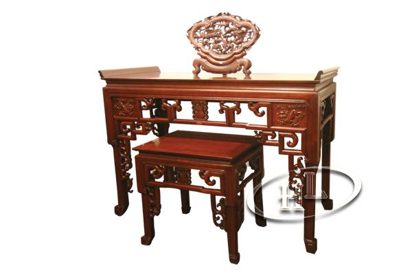 Cặp bàn thờ Minh Móc gỗ Gụ 1m53