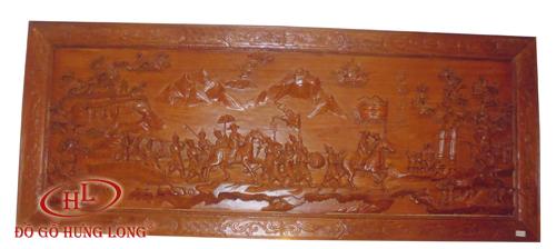 Tranh Vinh quy bái tổ (gỗ Hương)