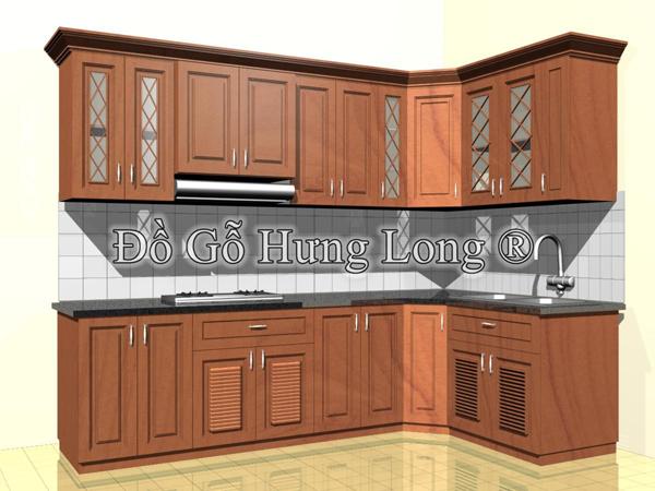 Tủ Bếp HL-01 Gỗ Hương