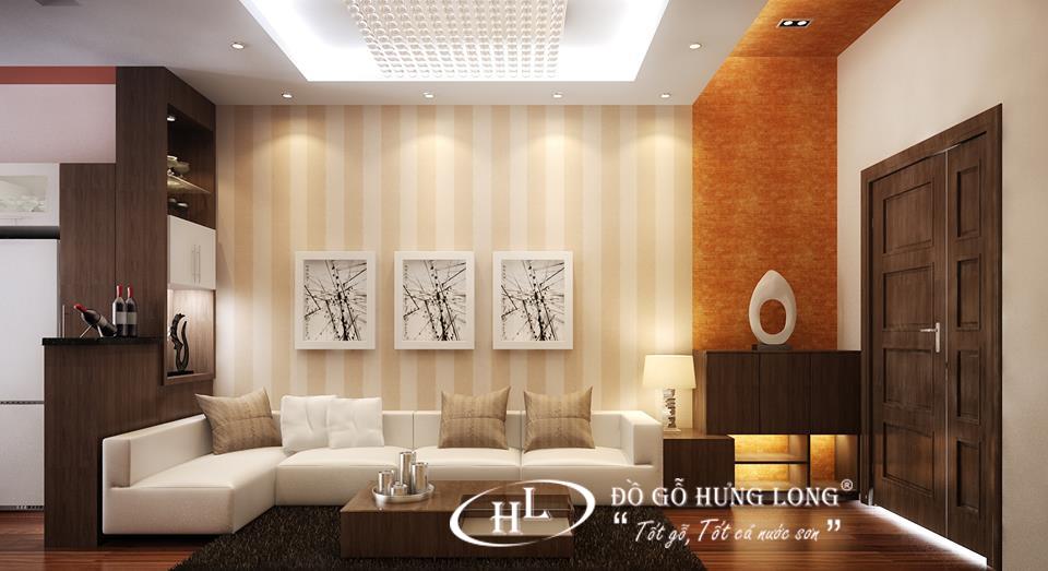 Phòng khách với không gian hiện đại