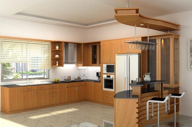 Nhà bếp đẹp và sành điệu với hệ thống kệ hộp ray kéo